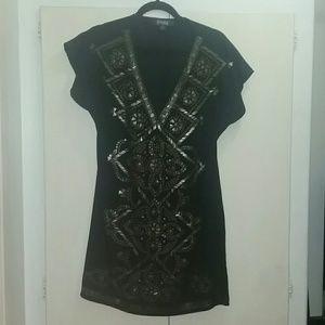 Hale Bob dress sequins black M